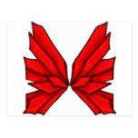 Mariposa roja III Postales