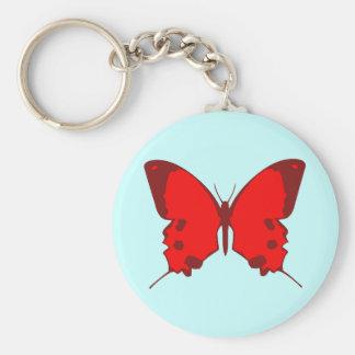 Mariposa roja llaveros personalizados