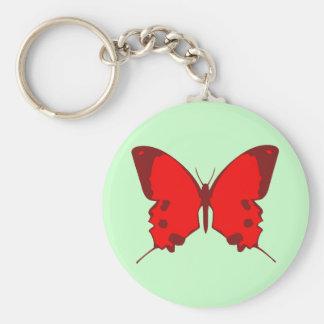 Mariposa roja llavero personalizado