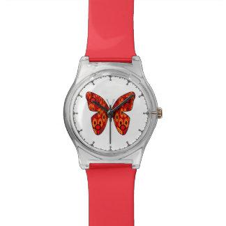 Mariposa roja relojes de mano
