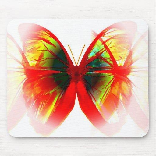 Mariposa roja tapetes de ratón