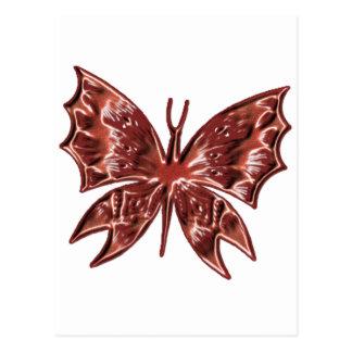 Mariposa roja tarjeta postal