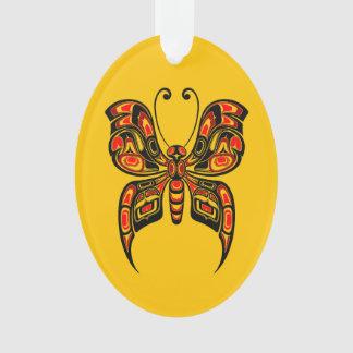 Mariposa roja y negra del alcohol del Haida en ama