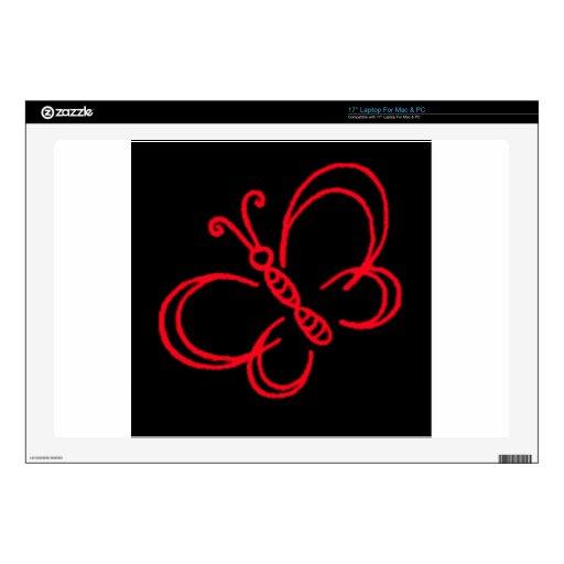 Mariposa roja y negra portátil 43,2cm skin