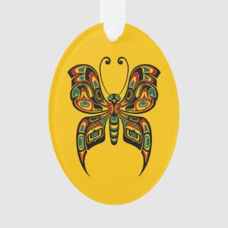 Mariposa roja y verde del alcohol del Haida en ama