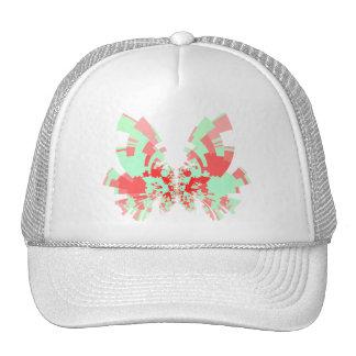 mariposa rojo-verde gorro de camionero
