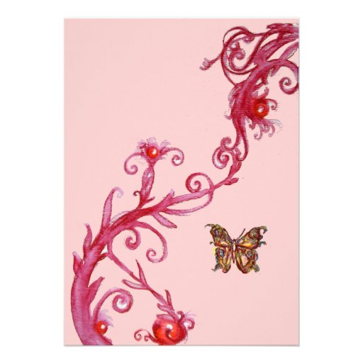 MARIPOSA, rosa rojo brillante
