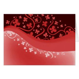 Mariposa rosada abstracta tarjeta