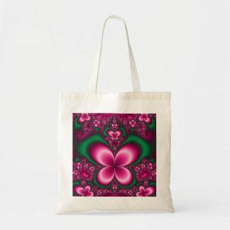 Mariposa rosada bolsa tela barata