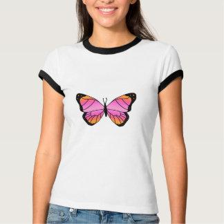 Mariposa rosada bonita playera
