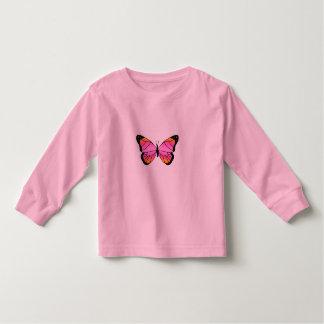 Mariposa rosada bonita playera de bebé