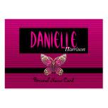 Mariposa rosada brillante de la tarjeta de present tarjeta de visita