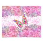 Mariposa rosada caprichosa brillante de Paisley de Fotografias