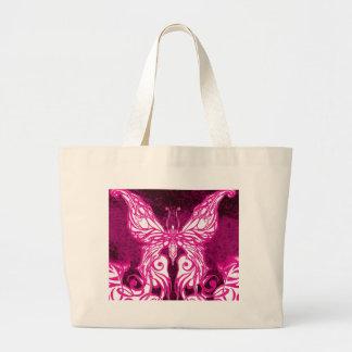 Mariposa rosada céltica/tribal adaptable bolsas de mano