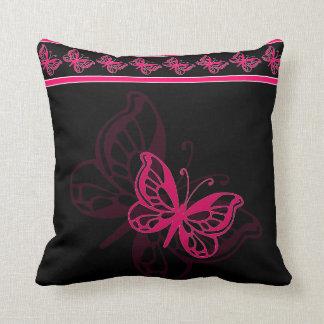 Mariposa rosada cojines