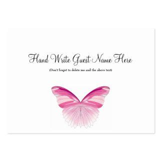 Mariposa rosada - coloque las tarjetas tarjetas de visita