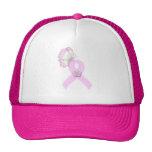 Mariposa rosada de la cinta gorra