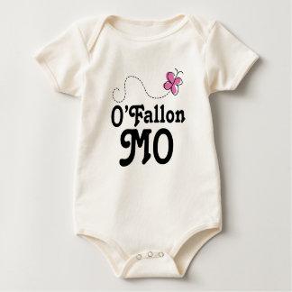 Mariposa rosada de O'Fallon Missouri Mameluco De Bebé