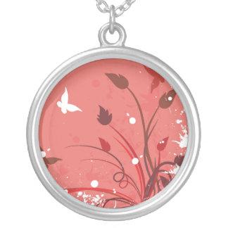 Mariposa rosada del Grunge Colgantes