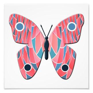 Mariposa rosada fotografía