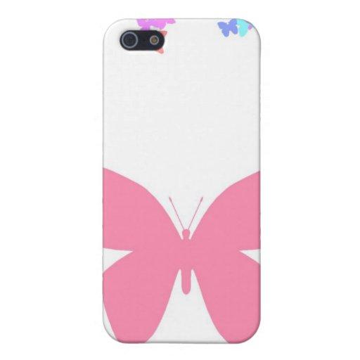 Mariposa rosada iPhone 5 carcasas
