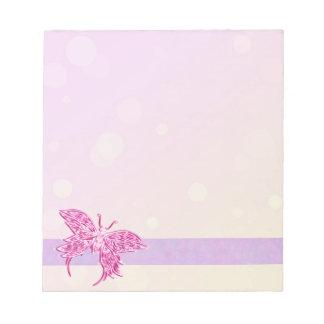 Mariposa rosada libreta para notas