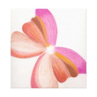 Mariposa rosada impresion de lienzo