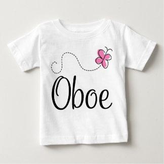 Mariposa rosada linda de Oboe Playera De Bebé