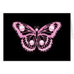 Mariposa rosada malvada felicitación