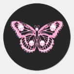 Mariposa rosada malvada pegatinas