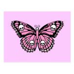 Mariposa rosada malvada postal