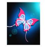 Mariposa rosada membrete