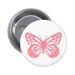 Mariposa rosada pin