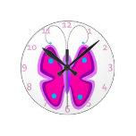 Mariposa rosada relojes