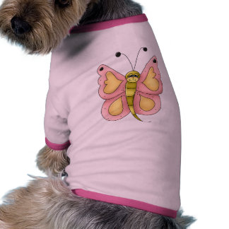 Mariposa rosada ropa de mascota