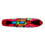 Mariposa rosada y gris cristalizada moderna tablas de skate