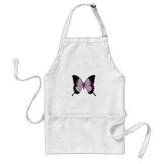 Mariposa rosada y negra grande - personalice delantal