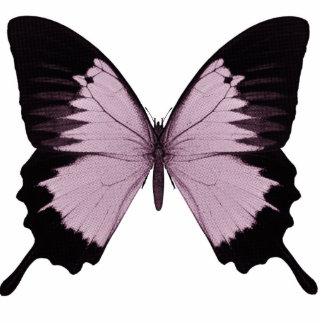 Mariposa rosada y negra grande - personalice escultura fotográfica
