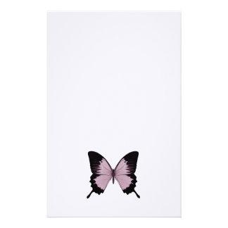 Mariposa rosada y negra grande - personalice papelería
