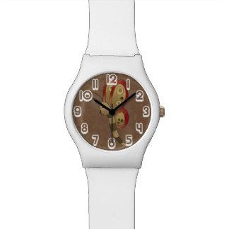 Mariposa rústica del país reloj de mano
