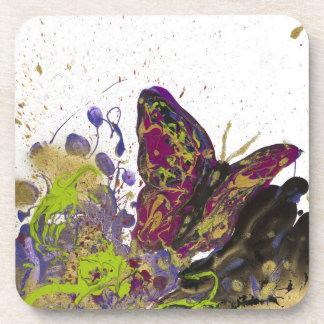 Mariposa salpicada posavasos de bebidas