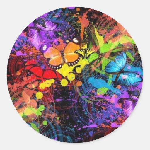 mariposa-salpicadura-recepción-defecto pegatina