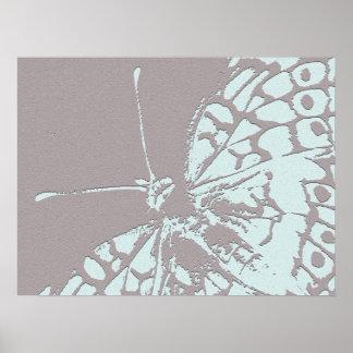Mariposa serena póster
