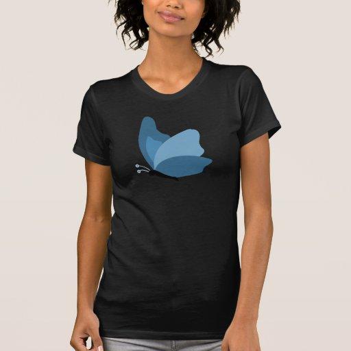 Mariposa simple - azul playera