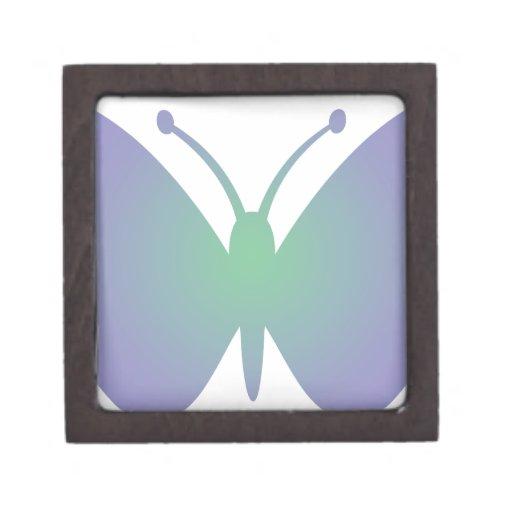 Mariposa simple cajas de recuerdo de calidad