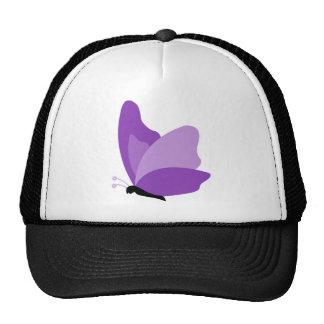 Mariposa simple - púrpura gorras de camionero