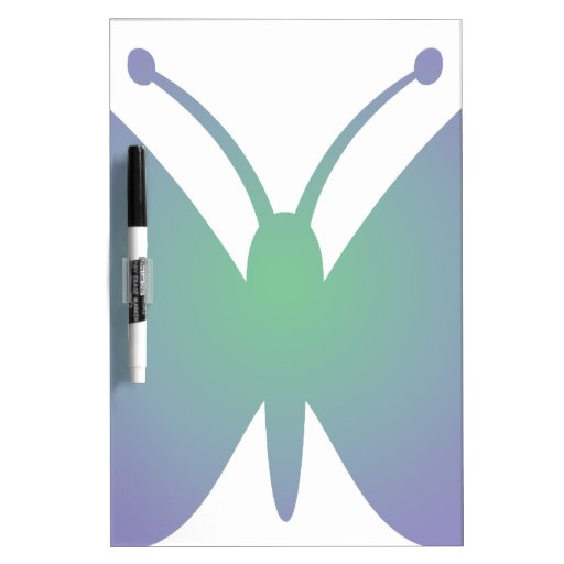 Mariposa simple tableros blancos