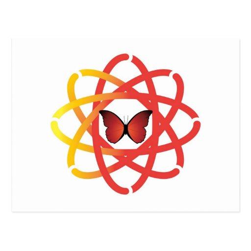 Mariposa sinérgica del centro del alcohol tarjeta postal