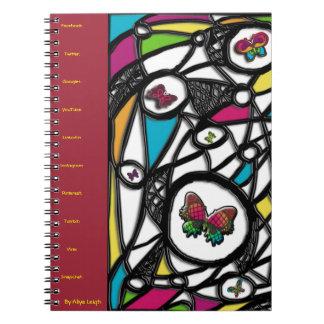 Mariposa social atractiva de Aliya Leigh Libreta