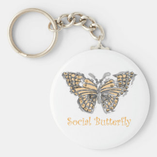 Mariposa social llaveros
